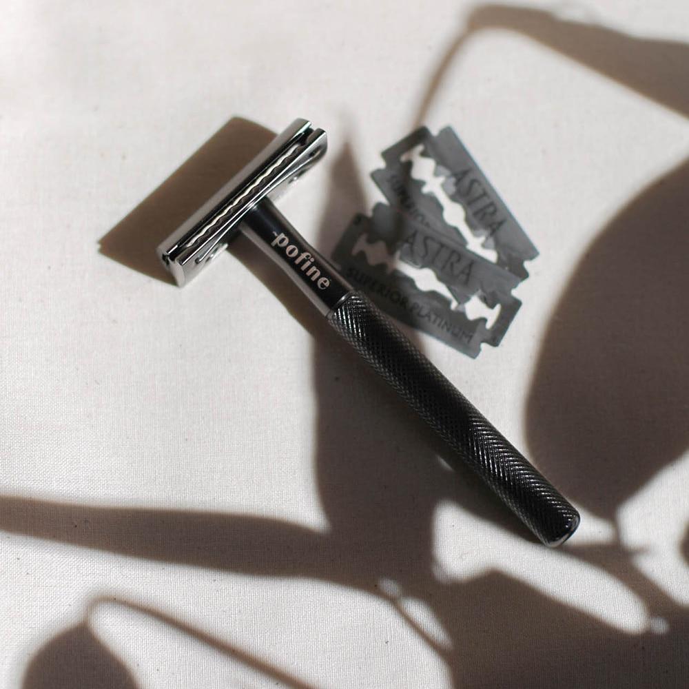 Rasoir de sûreté Noir mat